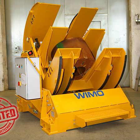 Patented: Motorized turning device for coils or round steel blocks