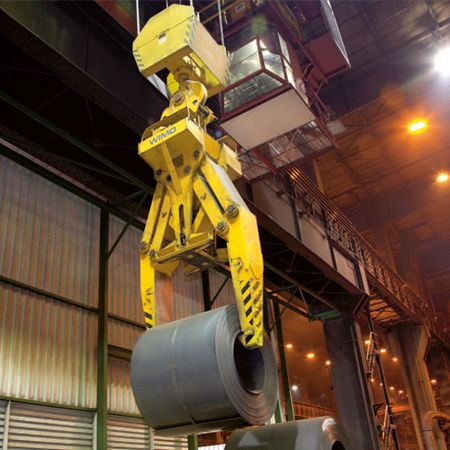 Heavy-duty parallelogram coil tong with hydraulic drive system